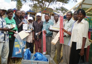 A trade box received by a community group in Kenya