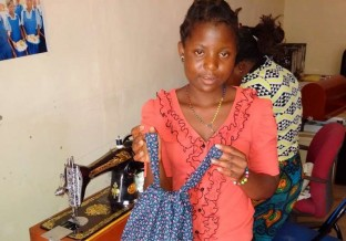 One of our seamstress / tailor boxes put to good use in Malawi